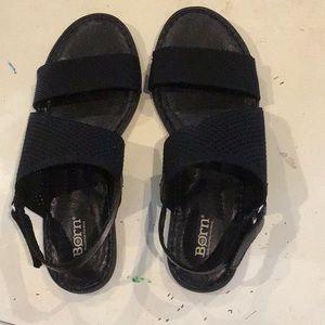 BORN  black adjustable strap sandals WORN once